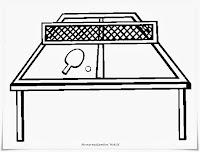 Mewarnai Gambar Meja Ping Pong