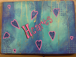 Hearts Journal Page