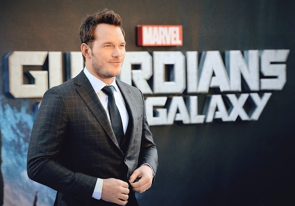 Chris Pratt grey check ERMENEGILDO ZEGNA suit at UK Premiere of Guardians of the Galaxy at Empire Leicester Square on July 24th 2014 in London