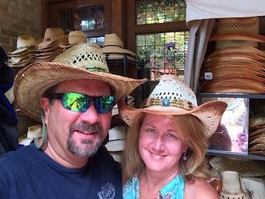 Chuck and Lori's Travel Blog - Chuck and Lori Wearing Cowboy Hats