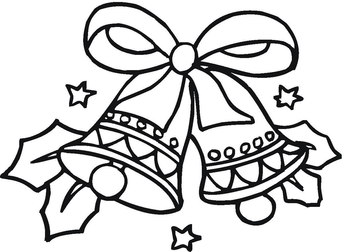 Desenho de Sinos de Natal para