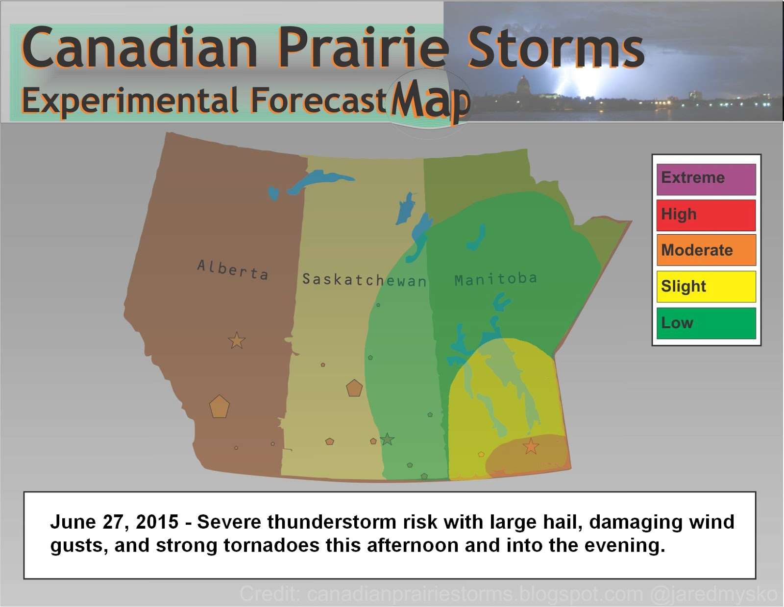 Canadian Prairie Storms: Tornado Warning In Manitoba [Moderate Risk ...