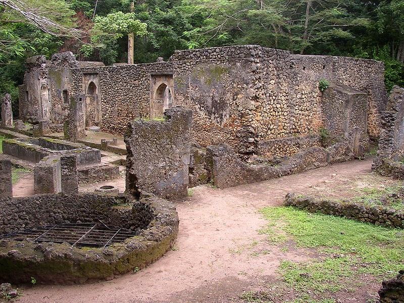Ruinas de Gede en Kenia