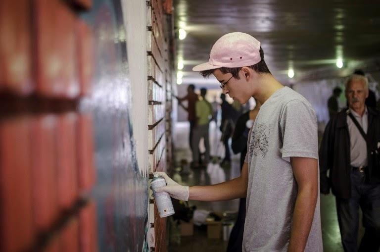 """Rapresent - oslikavanje podzemnog prolaza kod TC """"Ušće"""""""