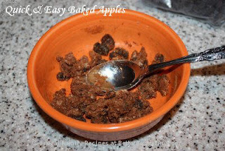 fill apple with butter mixture