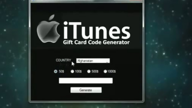ITunes Gift Card Code Generator - (Updated)