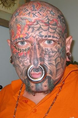 Most Unusual and Weird Face Tattoos