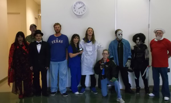 GotPrint employees group picture wearing Halloween costumes 2013