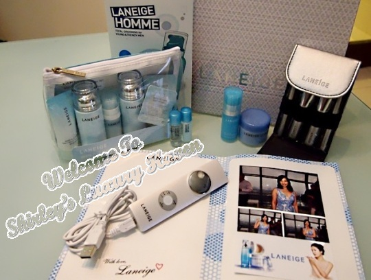 laneige water bank skincare, ion nano steamer