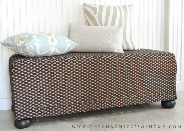 The Chronicles of Home: DIY Upholstered Bench, The Remix