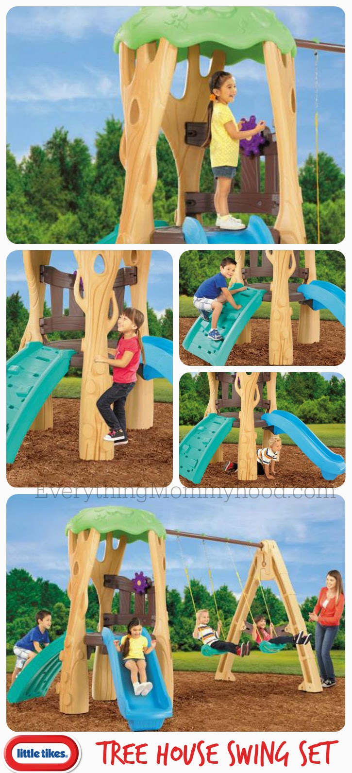 Little Tikes Tree House Swing Set Giveaway Event