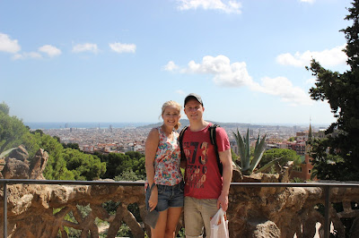 Couple at Park Güell in Barcelona