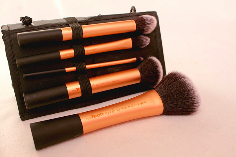 your base flawless core collection, your eyes enhanced starter set, pointed foundation brush, real technique, brush, samantha chapman, review, detailer brush, pointed brush, buffing brush, contour brush, powder brush, beauty, makeup, blog, enjoyk,