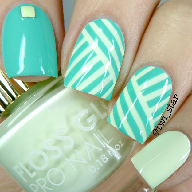 Floss Glowstar nail striping tape mani