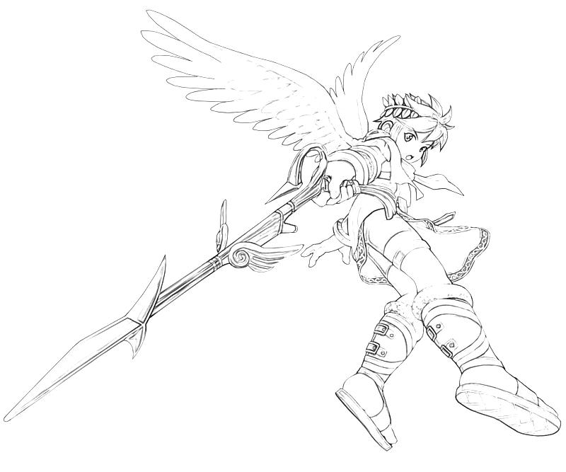 Kid Icarus Pit Weapon Coloring Pages