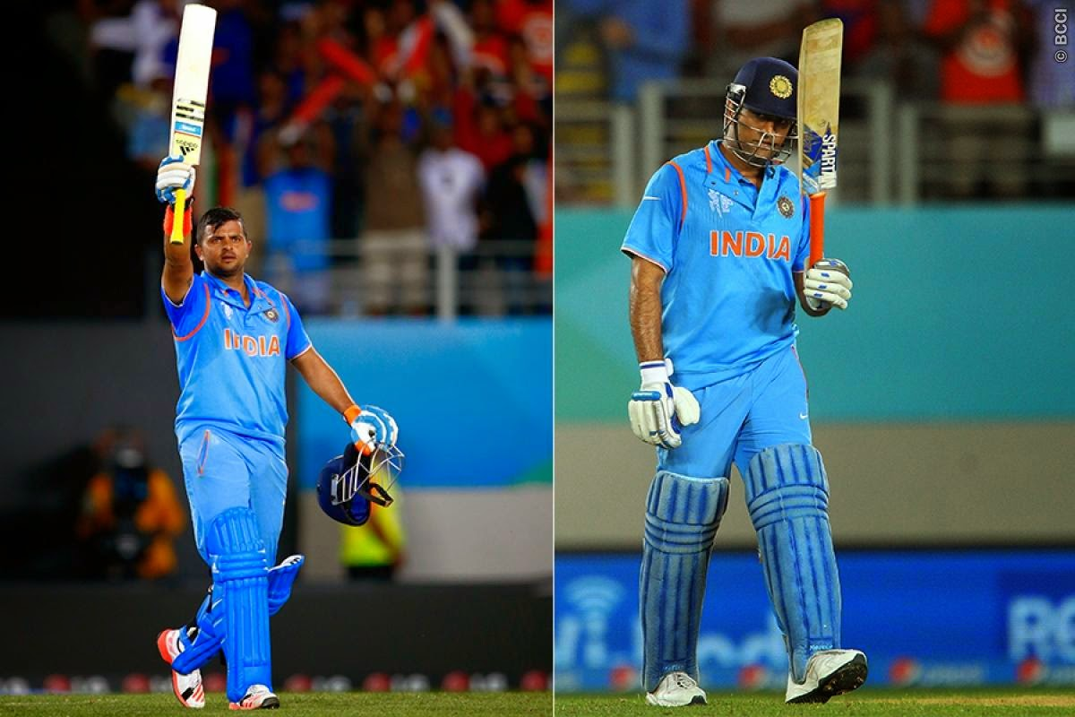 Suresh Raina, MS Dhoni, India vs Zimbabwe – ICC Cricket World Cup 2015
