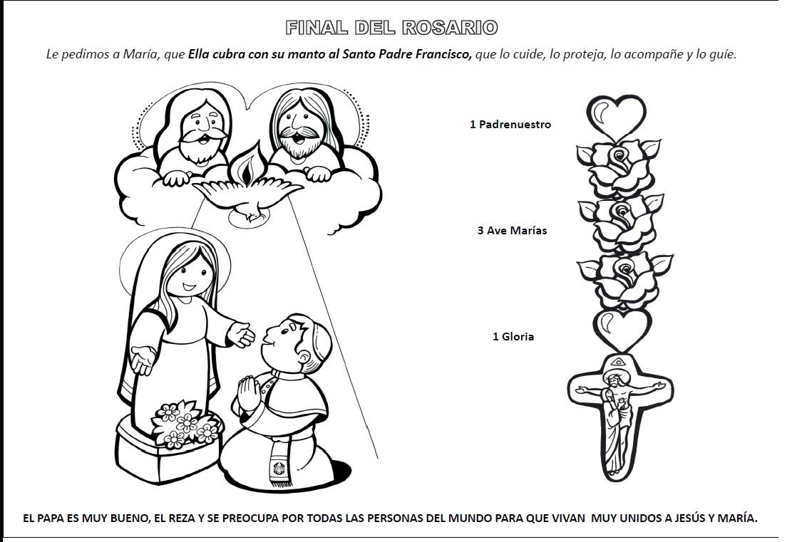 PARA COLOREAR: Cómo rezar el Santo Rosario para iluminar