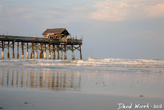 cocoa beach pier, bar, fish, restaurant, sunet view