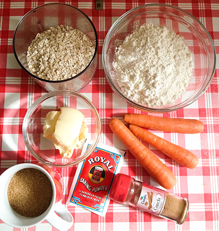ingredientes galletas zanahoria avena