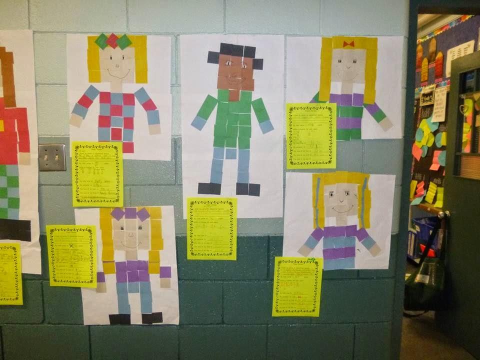 Pixel People Math Art - Tried it Tuesday - Elementary AMC