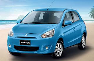 Blue Mitsubishi Mirage