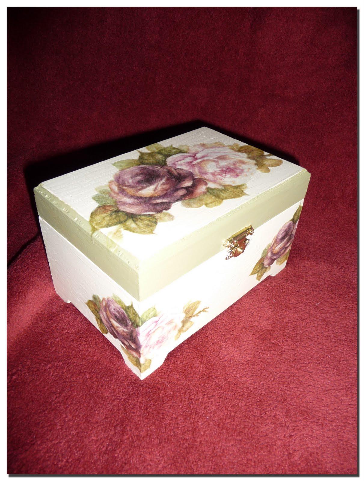 Las manualidades de blanca cajas de madera - Cajas madera manualidades ...