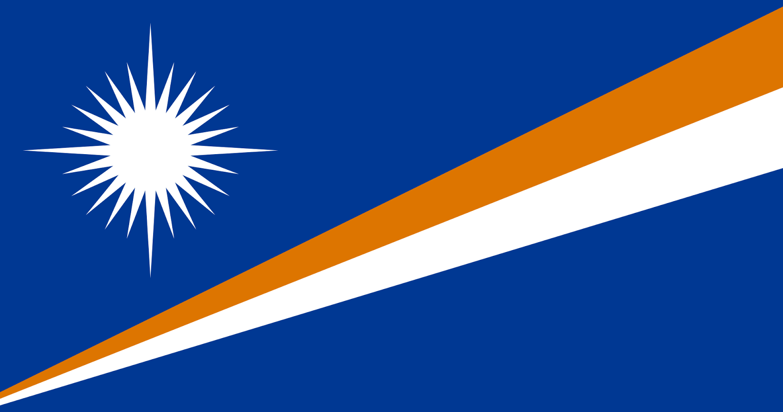 The Marshall Islands Flag