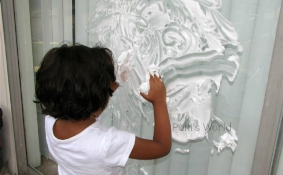 Shaving Cream Drawing Kids Activity