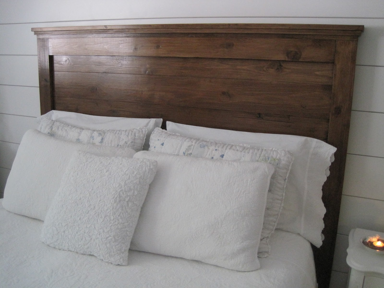 Few Weeks Ago My Husband Set Up Our New Headboard That We Made For . Full resolution‎  picture, nominally Width 1600 Height 1200 pixels, picture with #5B4538.