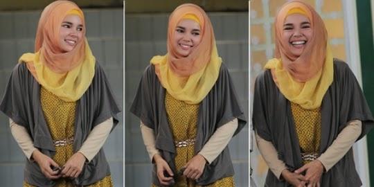 Gambar Panduan Cara Memakai Hijab Hana Dewi Sandra Gambar Tutorial Jilbab Lengkap