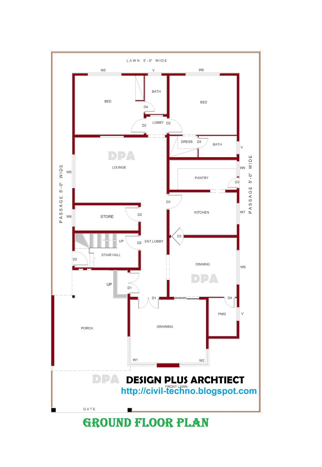 Home plans in pakistan home decor architect designer for House drawing plan layout