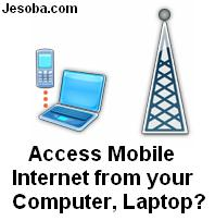 How to access mobile internet from pc computer laptop