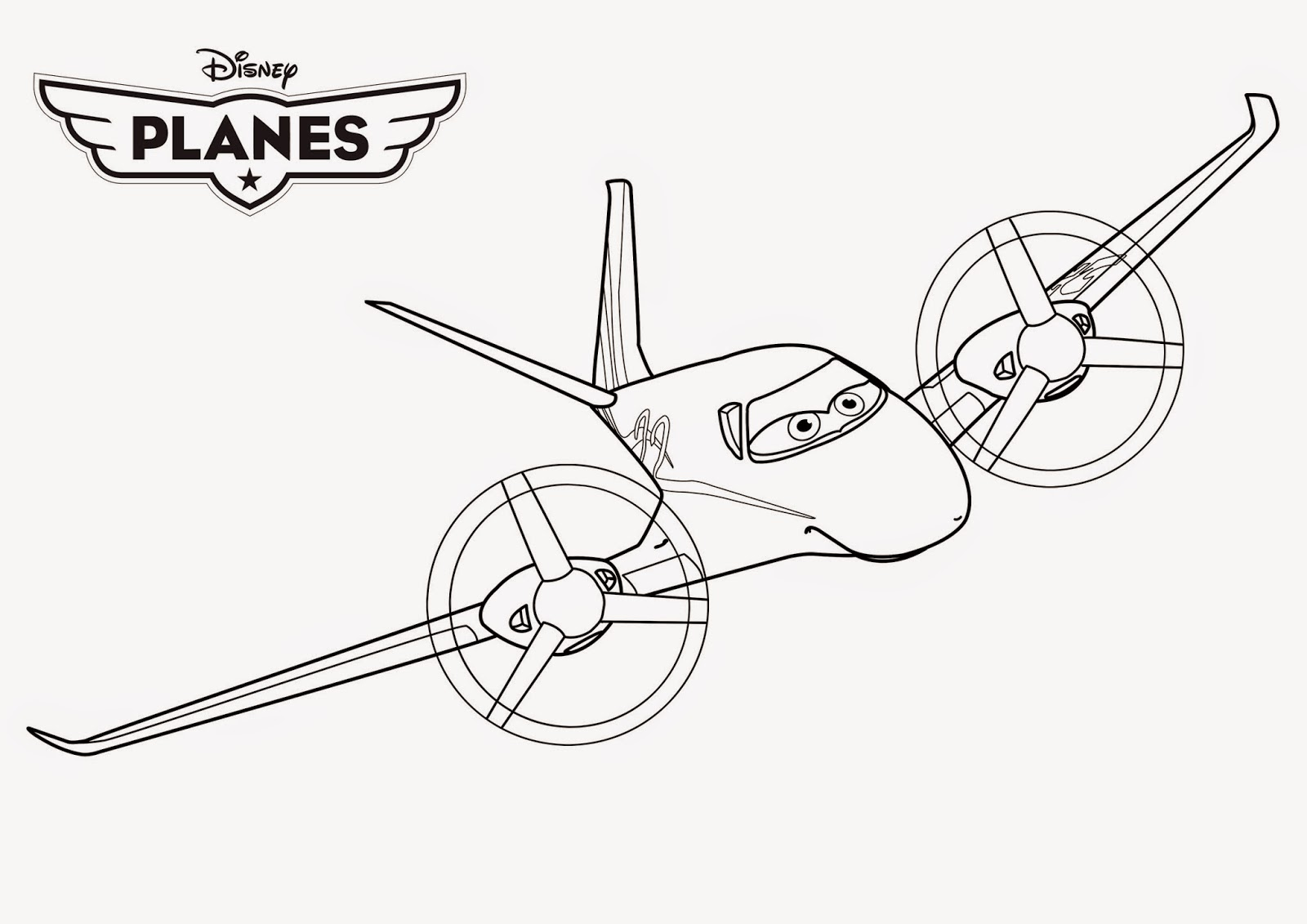 Disney Planes Coloring Pages : Disney planes coloring drawing free wallpaper anggela