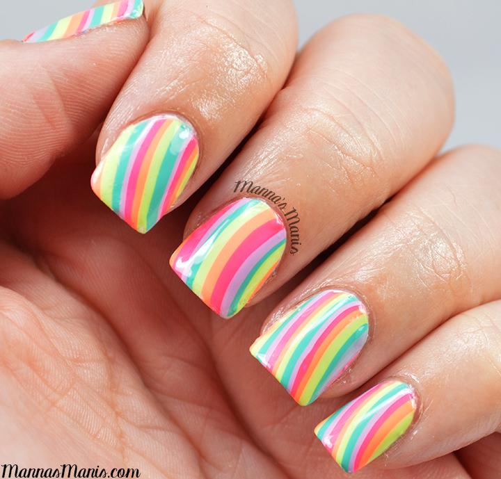 dry watermarble nail art