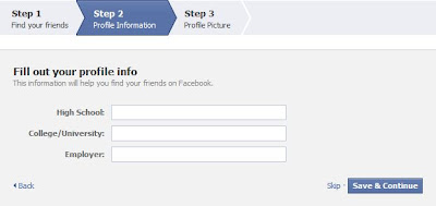 facebook profile information