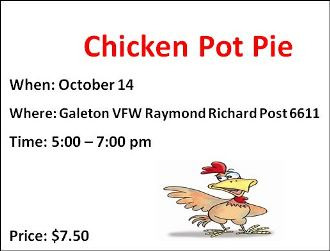 10-14 Chicken Pot Pie Galeton VFW