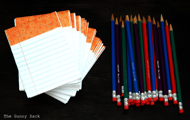 Handmade Notebooks and Pencils