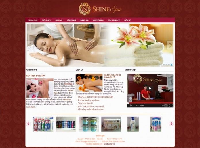 website thẩm mỹ viện, spa dạng 3