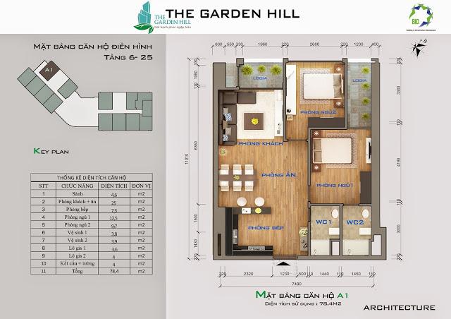căn a1 chung cư the garden hill