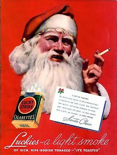 Santa Cigarette Ads