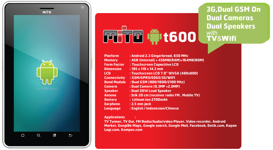 Mito T600 Tablet Android Terbaru Murah