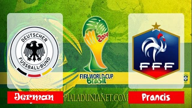 Prediksi Skor Perancis vs Jerman 4 Juli Piala Dunia 2014 Perempat FINAL