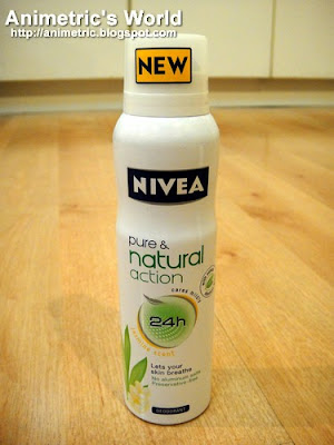Nivea Pure and Natural deodorant spray