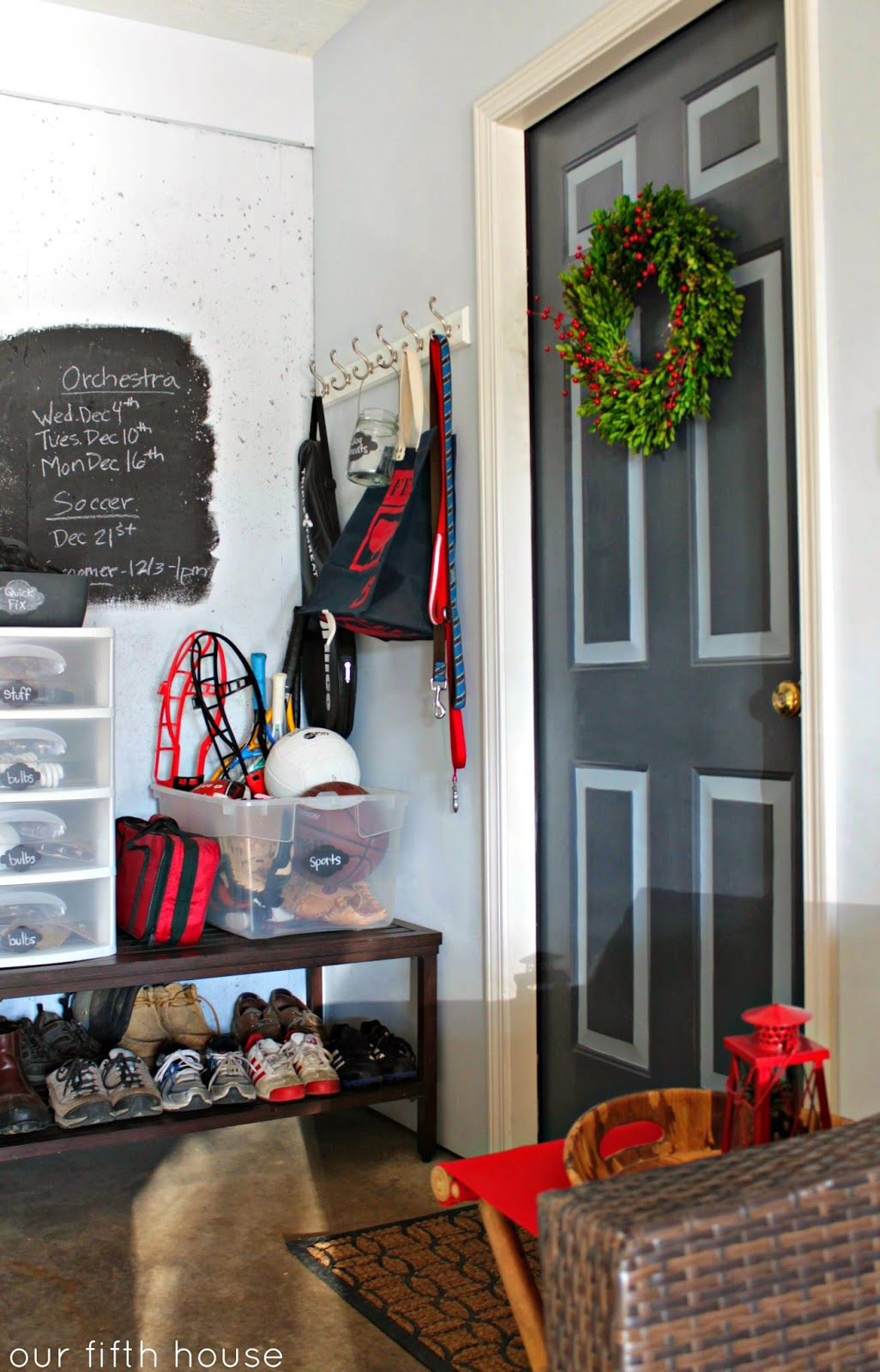 Mudroom In The Garage