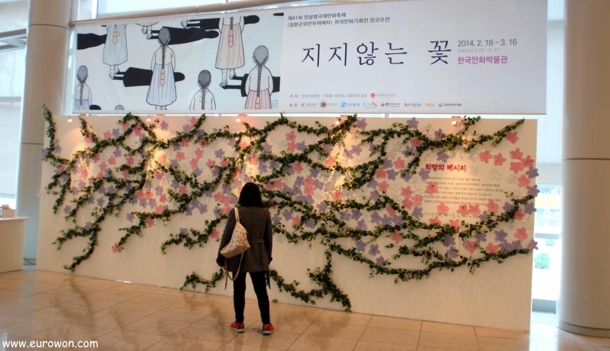 Mural de apoyo a las comfort women de Corea
