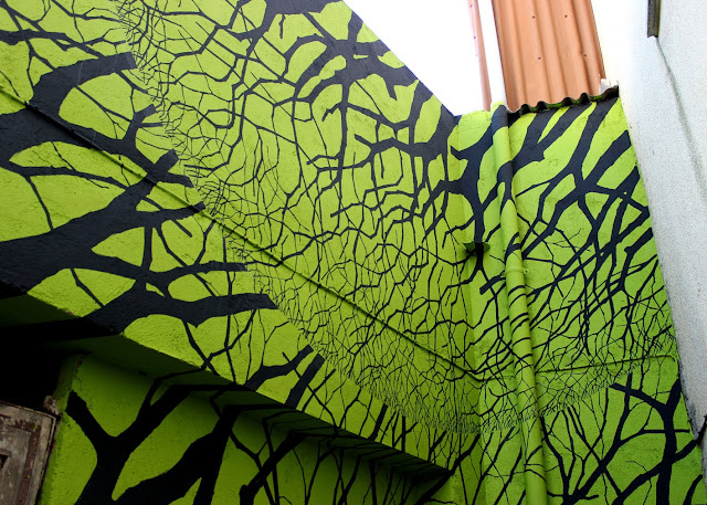 Street Art By Pablo S. Herrero for Camino de los Prodigios On the streets of Villanuva Del Conde, Spain 5