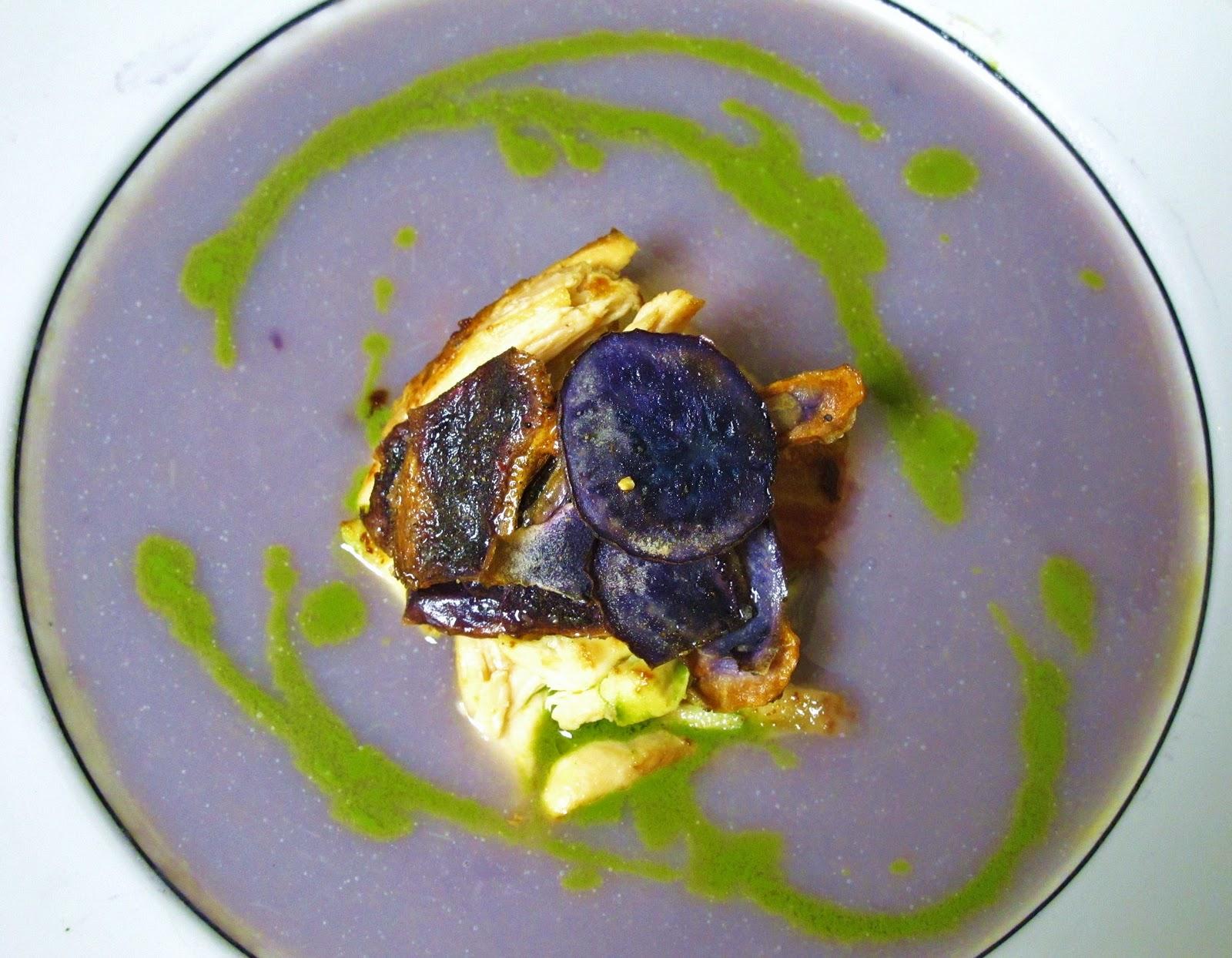 The Small Boston Kitchen: Purple Potato-Leek Soup with ...