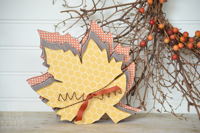 Stacking Fall Leaves & Acorns from The Happy Scraps
