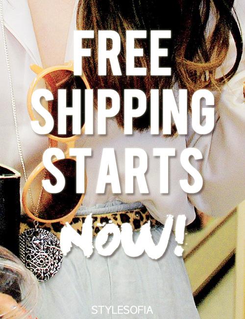 free worldwide shipping at stylesofia.com