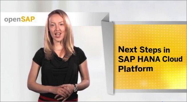 Next steps in SAP HANA